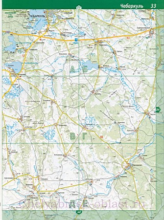 Автомобильная карта Миасса.
